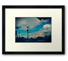 Look at those sky lines Framed Print