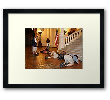 Show your best side!! Framed Print