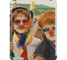 Happy Girls at Glastonbury festival . iPad Case/Skin
