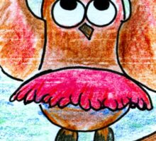Dancing Owl Sticker
