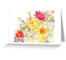 Moss Roses Greeting Card