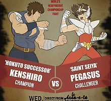 Ken Shiro VS Pegasus Boxe poster by lyoker
