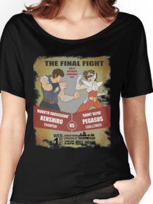 Ken Shiro VS Pegasus Boxe poster Women's Relaxed Fit T-Shirt