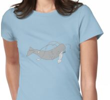 squid & whale filled Womens Fitted T-Shirt