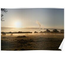 sunrise A6 Leicestershire  Poster