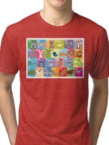 The Animal Alphabet Tri-blend T-Shirt