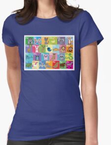 The Animal Alphabet Womens Fitted T-Shirt