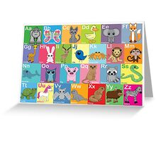 The Animal Alphabet Greeting Card