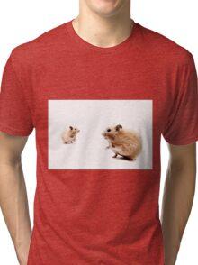 Hamster Hi Five. Tri-blend T-Shirt