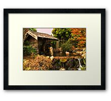 Mill shed with water wheel Framed Print