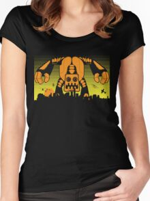 Robot Attack Women's Fitted Scoop T-Shirt