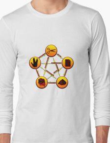 rock paper scissors lizard spock Long Sleeve T-Shirt