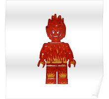 LEGO Human Torch / Johnny Storm Poster
