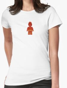 LEGO Human Torch / Johnny Storm Womens Fitted T-Shirt