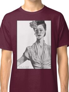 1940's Model (with background) Classic T-Shirt