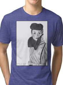 Spy (with background) Tri-blend T-Shirt