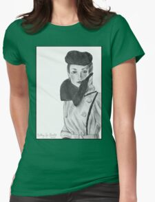 Spy (with background) Womens Fitted T-Shirt