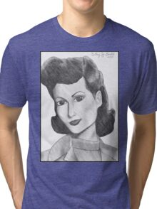 1940's Actress (with background) Tri-blend T-Shirt