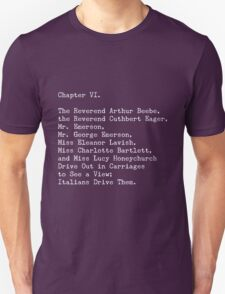 A Room with a View, Chapter VI Unisex T-Shirt