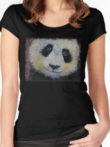Panda Smile Women's Fitted Scoop T-Shirt