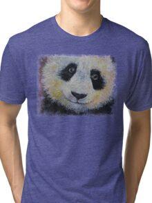 Panda Smile Tri-blend T-Shirt