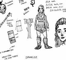 Ela Character Concept Sheet by boceto