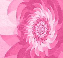 Surreal fractal cold pink flower by Natalia Bykova
