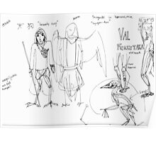 Character Sketch: Val Poster