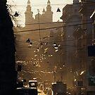 Evening over Lviv's street by Oleksii Rybakov