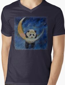 Panda Stars Mens V-Neck T-Shirt