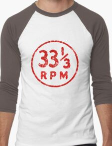 33 1/3 rpm vinyl record icon Men's Baseball ¾ T-Shirt