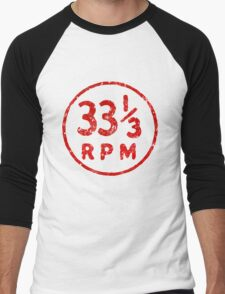 33 1/3 rpm vinyl record icon Men's Baseball ¾ T-Shirt