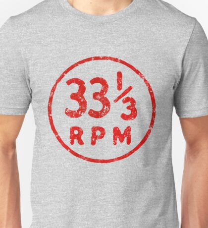 33 1/3 rpm vinyl record icon Unisex T-Shirt