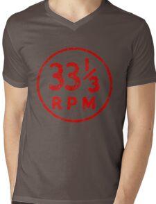 33 1/3 rpm vinyl record icon Mens V-Neck T-Shirt