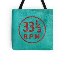 33 1/3 rpm vinyl record icon Tote Bag