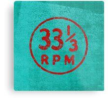 33 1/3 rpm vinyl record icon Metal Print