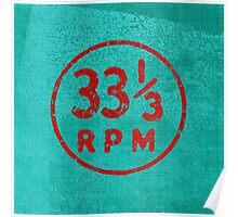 33 1/3 rpm vinyl record icon Poster