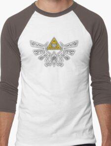 Zelda - Hyrule doodle Men's Baseball ¾ T-Shirt
