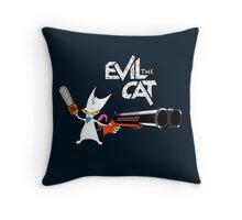 EVIL CAT Throw Pillow