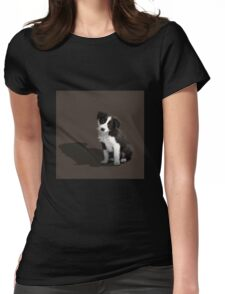 Border Collie Puppy Womens Fitted T-Shirt