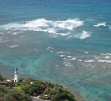 Lighthouse, from the summit of Diamondhead by jtalia