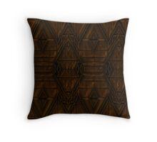 Coppery Steampunk Pyramid Design Throw Pillow