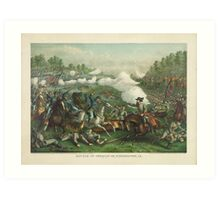 Civil War Battle of Opequan or Winchester Virginia Sept 19 1864 Art Print