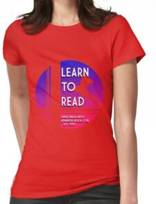 Super Smash Bros. LEARN TO READ  Womens Fitted T-Shirt