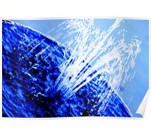 Fountain of Blue Poster