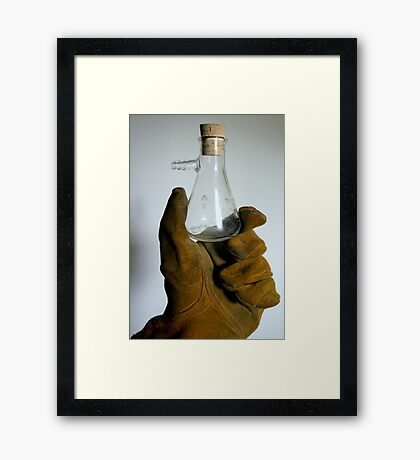 Science is Hard Work Framed Print