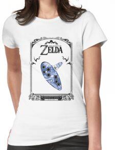 Zelda legend - Ocarina doodle Womens Fitted T-Shirt
