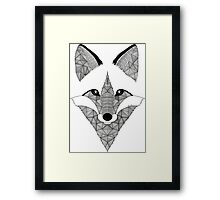 Fox black and white Framed Print