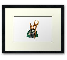 LEGO Loki Framed Print