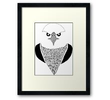 Eagle black and white Framed Print